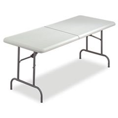 -- IndestrucTable TOO Bifold Resin Folding Table, 60w x 30d x 29h, Platinum