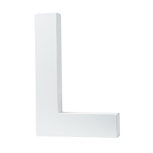 5.9(L) x3.9(H) x0.8(W) 15x10x2cm Wall Letters Marquee Alphabet L Wood Wooden Number DIY Block Words Sign Hanging Decor Letter for Home Bedroom Office Wedding Party Decor White