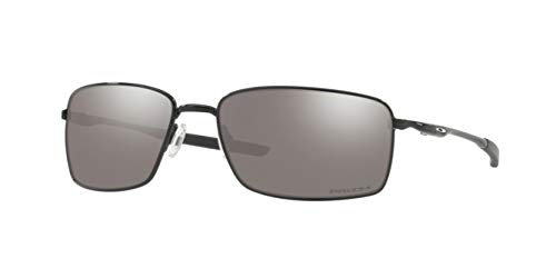 (Oakley Square Wire, OO4075 (13) Polished Black/Prizm Black 60mm, Sunglasses Bundle with original case, and accessories (6)