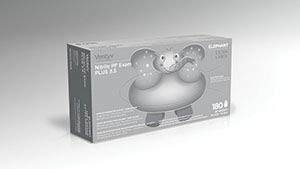 Ventyv Nitrile Powder Free Exam Glove Plus 3.5 (Elephant), Violet Blue, X-Large 10337101