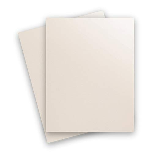 Virtual Pearl 8-1/2-x-11 Cardstock Paper 25-pk - PaperPapers 240 GSM (89lb Cover) Letter Size Card Stock Paper - Business, Card Making, Designers, Professional and DIY - Metallic Cardstock Paper Curious