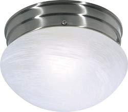 Replacement for 60/2633 1 Light ES Small Mushroom with Alabaster Glass 1 13W GU24 LAMP Included Brushed Nickel Utility
