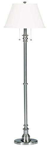 Kenroy Home Modern Brushed Steel Floor Lamp