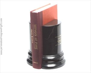 ANEDesigns Black Marble Column Bookends an Impressive Recognition Gift - that Let's Your Appreciation be Known. (Column Marble Bookends)