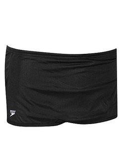 Speedo Men's Solid Nylon Square Leg Training Swimsuit, Black, 28 by Speedo