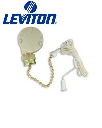 Leviton 1689 Three Speed - Four Position Pull Chain Switch BULK by Leviton