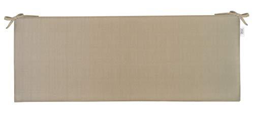 RSH Décor Indoor/Outdoor Bench Cushion Made from Premium Sunbrella Linen Antique Beige Fabric - 2
