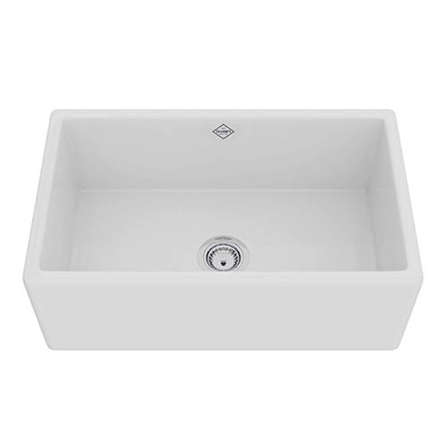 Rohl MS3018WH FIRECLAY KITCHEN SINKS White