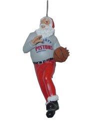 Detroit Pistons Santa Claus Christmas Ornament