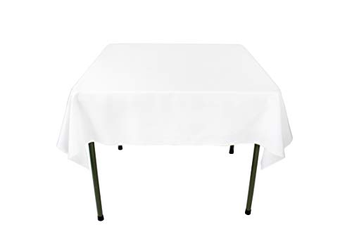 54 Inch Dining Buffet - GEFEII Kitchen 54 inch Square Tablecloth Solid Polyester White Tablecloths for Wedding Party Restaurant Banquet Dining Buffet Table Picnic Decorations (Square-54x54 inch, White)