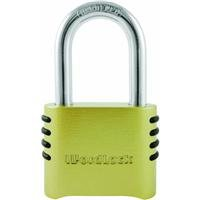 WordLock PL-048-SS 4-Dial Brass Lock, Short Shackle (Short Shackle)