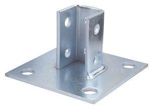 Angular Base - Unistrut P2072ASQ-EG Electrogalvanized 1/4 Inch Steel Square U Post Base