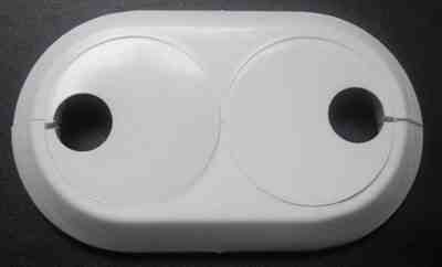 Double 15mm pvc white radiator plastic water pipe cover for White plastic water pipe