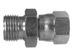 Midland 7022-6-4 Steel Straight Swivel 9//16-18 JIC Thread x 1//4-19 Male BSPP