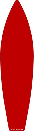 Surfboard Red Surf Decor - Red Solid Dye Sublimation Blank Surf Board Sign SB-007