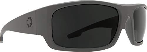 SPY Optic Piper | Wrap Sport Sunglasses (Primer Gray, Gray Polarized) (Spy Optic Logan)