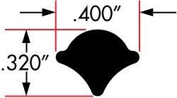 Cooper Standard Catalog Parts Self-Sealing Weatherstrips Lock Strip, Length 200', Width .400'', Pkg Qty 1 roll x 200', AS937 Filler Strip Part No: 75000687 by Cooper Standard (Image #2)