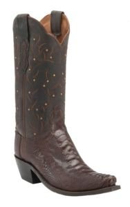 Lucchese M5616.S54 Valeria Womens Sienna Ostrich Leg Leather Cowboy Boots 6 B