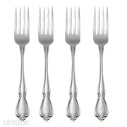 Oneida Chateau Fine Flatware Set, 18/8 Stainless, Set of 4 Dinner Forks