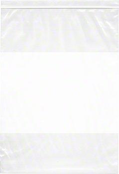 13'' x 18'', 4 Mil (Case of 500) Heavy Duty Plastic Reclosable Zipper Bags w/ White Block by Plymor