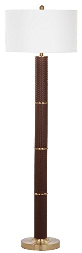 Safavieh Lighting Collection Marcello Faux Woven Leather Brown 60.5-inch Floor (Lighting Faux Leather)