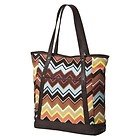 Missoni Target Exclusive Canvas Tote Zig Zag Brown