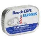 Beach Cliff Sardines In Soybean Oil 3.75 OZ (Pack of 18)