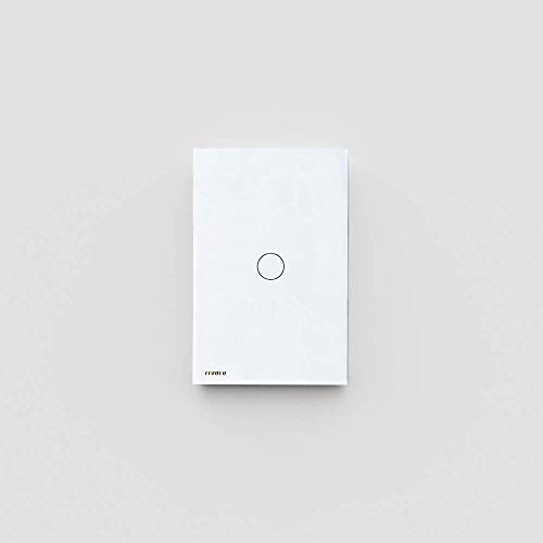 LIVOLO Light Switch, Tempered Glass Panel Touch Light Switch 1 Gang 2 Way with Indicator Light,US Standard Modern Wall Touch Switch VL-C501S-11