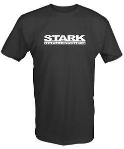 """Stark Industries"" Camiseta. Retro Marvel Iron Camiseta Hombre Vengadores Nuevo"