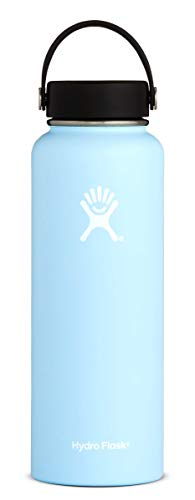 Hydro Flask 40 oz Water Bottle | Stainless Steel & Vacuum Insulated | Wide Mouth with Leak Proof Flex Cap | Frost