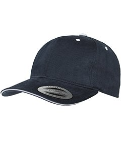 Yupoong Brushed Cotton Twill 6-Panel Mid-Profile Sandwich Cap OS (Panel Mid Profile Sandwich Cap)