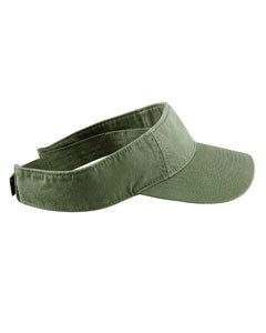 Authentic Pigment Direct Dyed Cotton Twill Visor Hat Cap - Olive