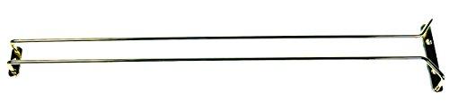 """Update International (GHB-24) 24"""" Brass-Plated Glass Hanger"""