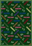 Joy Carpets Playful Patterns Children's Crayons Area Rug, Green, 3'10