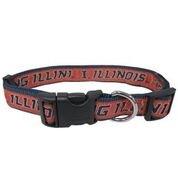 (University of Illinois Nylon Adjustable Dog Collar (Large))