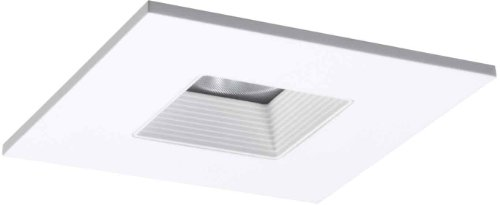 HALO Recessed TLS408WHWB 4-Inch LED Trim Square with Solite Regressed Lens and White Baffle-White Ring