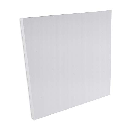 JOCAVI ATP Basmel Acoustic Melamine Foam Sound Absorbing  Panels, Professional Noise Dampening Treatment, Light Grey, 23.6