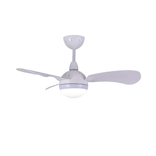 36'' Nordic Fan Chandelier, Macaron Series Simple Modern Home Mute LED Ceiling Fan Light Living Room Dining Room Children's Room Decoration Lamp with Fan (Color : White)