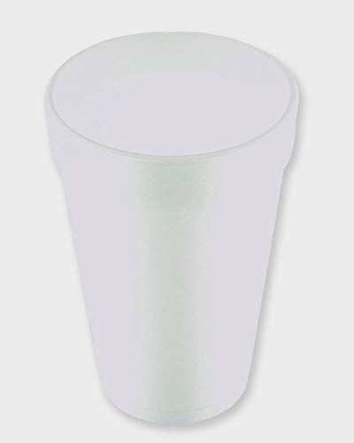 (16 Oz. White Disposable Drink Foam Cups Hot and Cold Coffee Cup (Pack of)