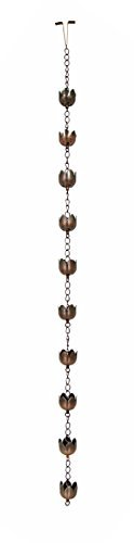 "Decorative 72"" Flower Motif Rain Chain"