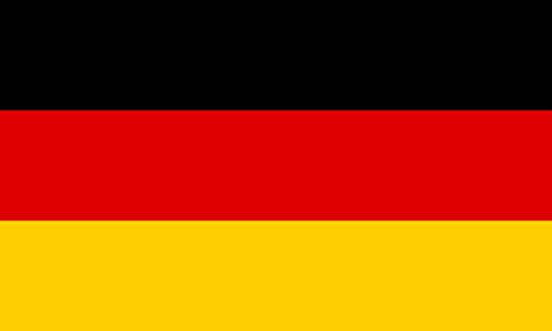 Germany 4 Pack of 4 Inch Wide Country Flag Stickers for Window Laptop Computer