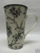 222 Fifth Adelaide Grey Latte Mug 6 1/4