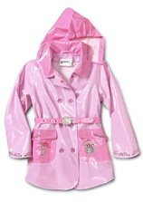 "Kidorable ""The English Roses"" Character Style Pink Rain Coat By Madonna Sz 2T"