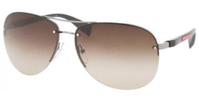 Prada Linea Rossa Men's PS 56MS Sunglasses Gunmetal / Brown Gradient 62mm (Prada Sunglasses)