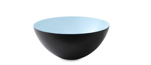 Krenit Round Edge Steel Bowl, 16cm Diameter, Light Blue by Krenit