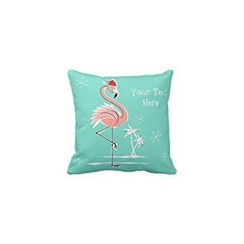Amazon Com Christmas Flamingo Text Throw Pillow Case 2020 Home Amp Kitchen