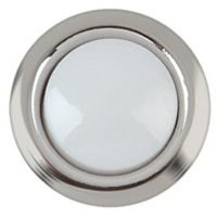 Button Door N/Lt Wird Wht/Slvr