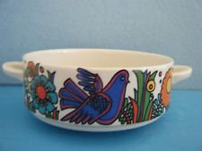 Villeroy & Boch Acapulco Birds Flowers Cream Soup Bowl, 2
