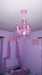 The Original Gypsy Color 4 Light Small Pink Chandelier H 17.5'' x W 15'', Pink Metal Frame with Pink Acrylic Crystals by Gypsy Color (Image #3)