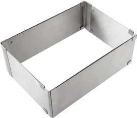 Molde para bizcocho cuadrado/rectangular - Acero inoxidable - Extensible de 24x16 a 45x29 cm x 8,3 cm de profundidad - Calidad garantizada: Amazon.es: Hogar